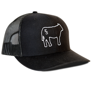 Get the E3 hat that no one else has, our Limited Edition E3 Cow Richardson hat. The adjustable snapback makes it comfortable to wear for anyone. Hurry and get yours while they last!