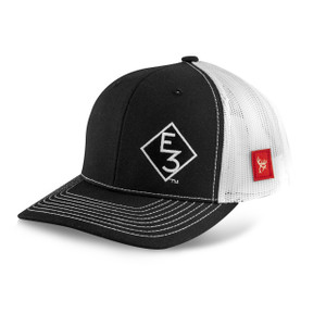 E3 Black and White Mesh Richardson Snapback Hat