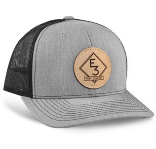 E3 Meat Co. Leather Patch Richardson Hat