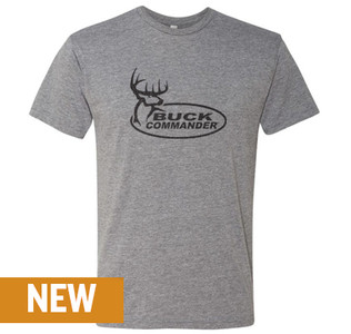 Buck Commander Heather Grey Logo Shirt