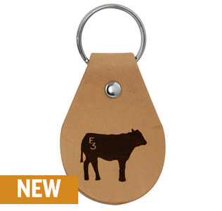 E3 Cow Leather Keychain