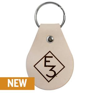E3 Diamond Leather Keychain