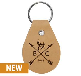 Buck Arrow Leather Keychain