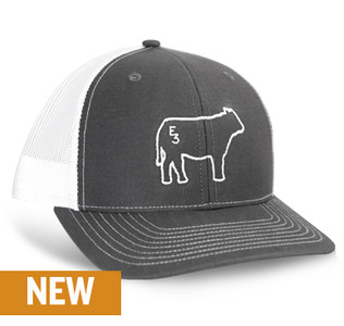LIMITED EDITION E3 Cow Charcoal Richardson Hat