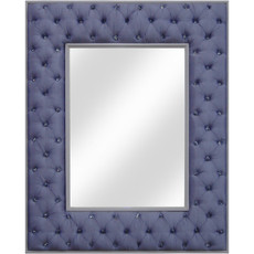 Crystal Tufted Mirror - Purple