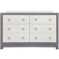 Tempo Dresser 6 Drawer - Gray