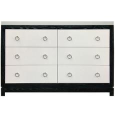Tempo Dresser 6 Drawer - Black Ash