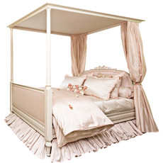 Princess Upholstered 4 Post Bed