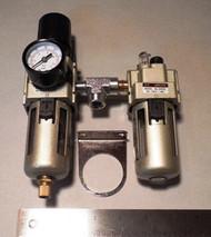 Tire Changer Parts. Air Filter, Regulator, and Oiler