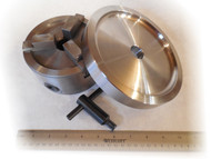 "Large 3-jaw Chuck Hub-less mounting kit. For Ammco, FMC, Accuturn, and any Brake Lathe with 1"" arbor."