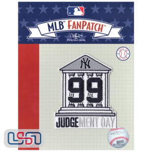 "Official New York Yankees Aaron Judge #99 Courthouse ""Judgement Day"" MLB Sleeve Jersey Logo Patch"