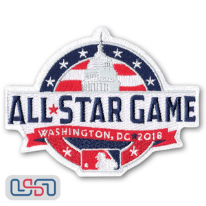 Official 2018 All Star Game MLB Washington Sleeve Jersey Logo Patch