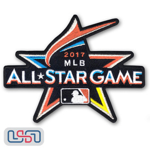 Official 2017 All Star Game MLB Miami Marlins Sleeve Jersey Logo Patch