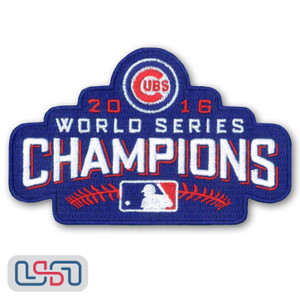 Official 2016 Chicago Cubs World Series Champions MLB Sleeve Jersey Logo Patch
