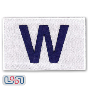 "Official 2016 Chicago Cubs World Series Winning Flag ""W"" MLB Sleeve Jersey Logo Patch"