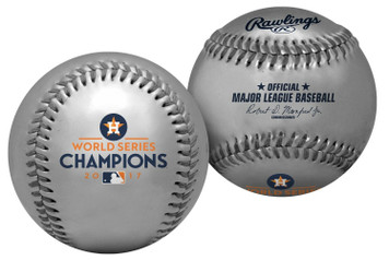 2017 Houston Astros Rawlings Ltd Edition 500 World Series Silver Champions MLB Baseball