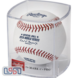 2018 World Series Rawlings Official MLB Game Baseball - Cubed