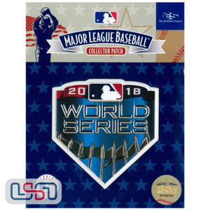 Official 2018 MLB World Series MLB Emboss Tech Sleeve Jersey Logo Patch