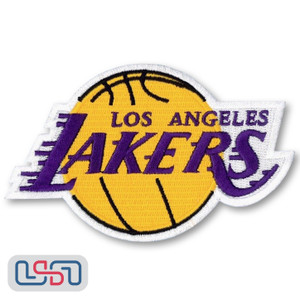 Los Angeles Lakers NBA Official Licensed Primary Team Logo Iron Sewn On Patch