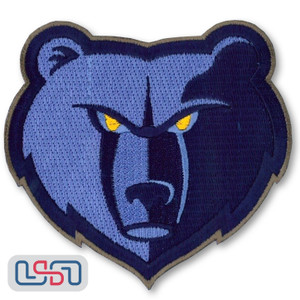 Memphis Grizzlies NBA Official Licensed Alternate Team Logo Iron Sewn On Patch