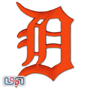 Detroit Tigers MLB Official Licensed Primary Logo Jersey Sleeve Patch (Orange)