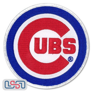 Chicago Cubs MLB Official Licensed Primary Logo Jersey Sleeve Patch