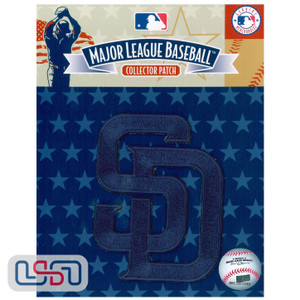 """San Diego Padres MLB Official Licensed """"SD"""" Sleeve Patch (Blue)"""