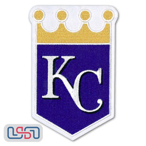 Kansas City Royals MLB Official Licensed Gold Crown Sleeve Patch