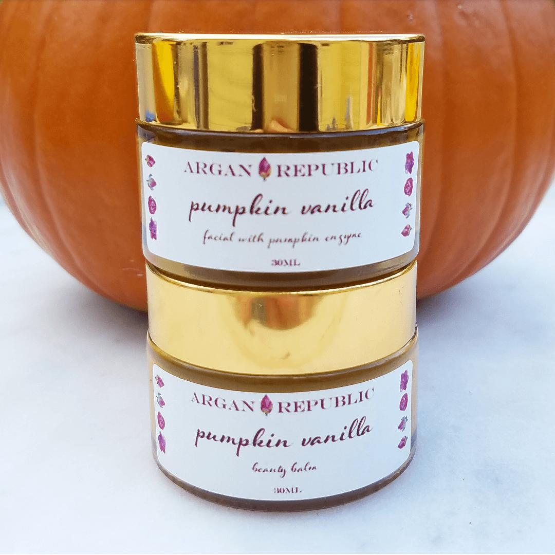 pumpkin vanilla skin care