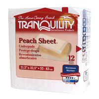 Tranquility® Peach Sheet Underpad