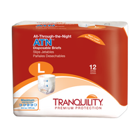 Tranquility ATN (All-Through-the-Night) Large Package | Most Absorbent Adult Diaper | Adult Diaper with Tabs
