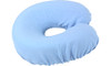 Face Crescent Cotton Cover in Light Blue.