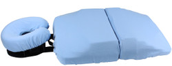 The 3-Piece bodyCushion Cotton Cover Set includes cotton covers for the Face, Chest, and Pelvic Supports.