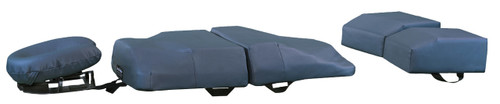 4-Piece bodyCushion with Split-Leg Support in Blue