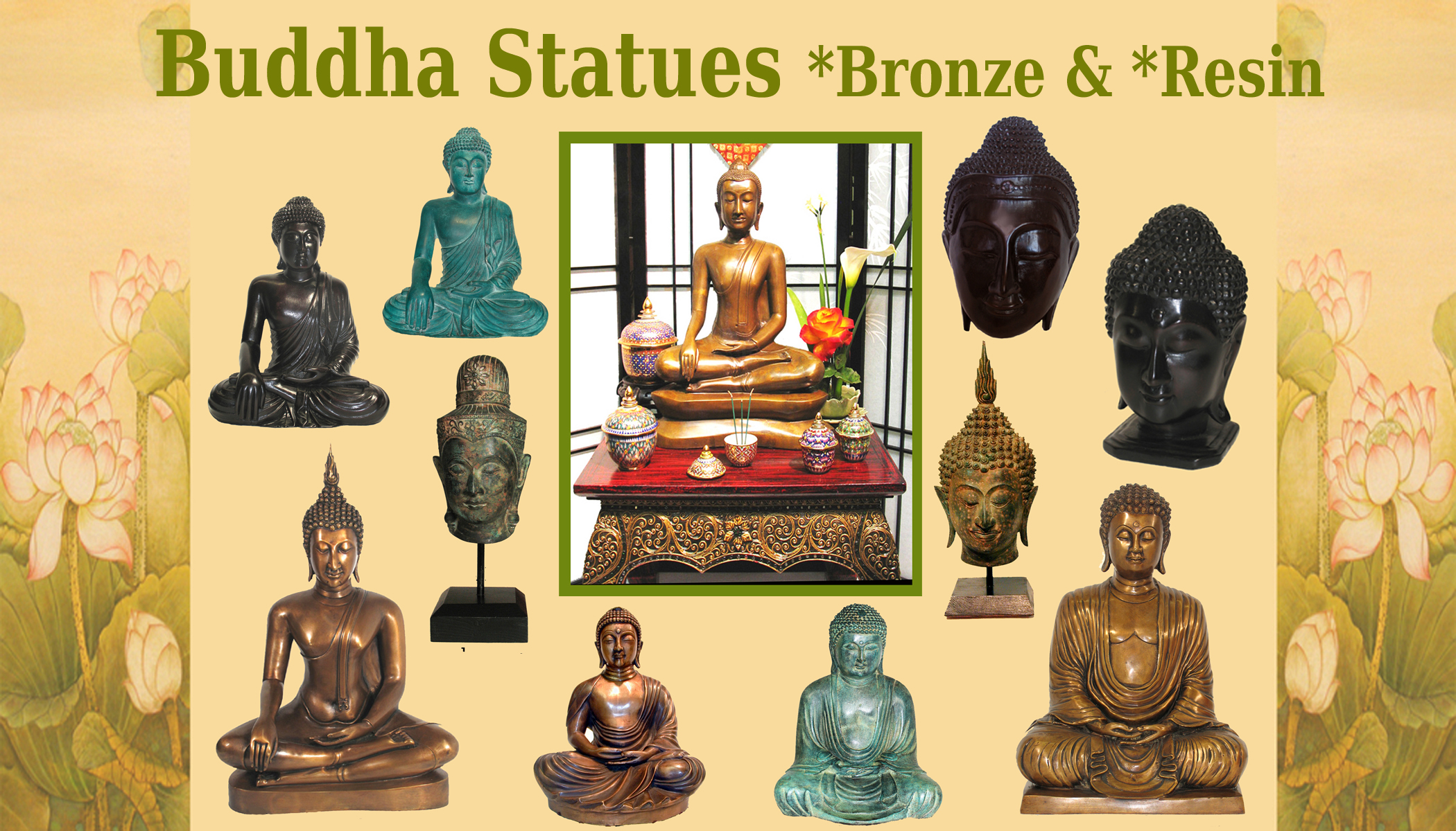 buddha wordpress decor for yoga home studio statue garden statues