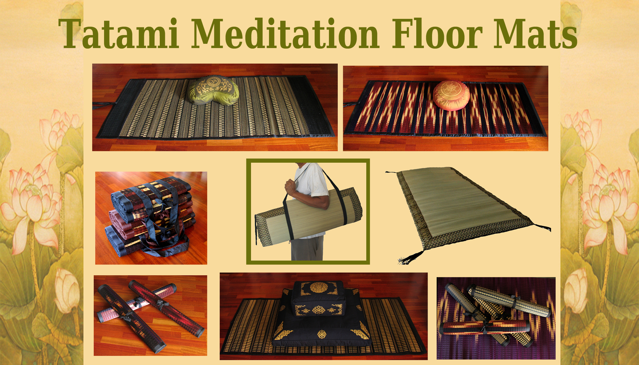 Meditation Cushions Zabutons Meditation Floor Mats
