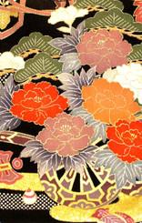 Handbags- Vintage Japanese Silk Kimono Print Fabrics: Vintage Silk Japanese Kimono Handbag FH014I