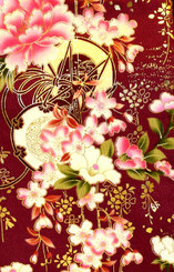 Handbags- Vintage Japanese Silk Kimono Print Fabrics: Vintage Silk Japanese Kimono Handbag FH014H