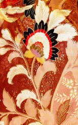 Handbags- Vintage Japanese Silk Kimono Print Fabrics: Vintage Silk Japanese Kimono Handbag FH014G