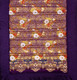 Yoga Mat - Quilted 100% Polished Cotton Prints: Purple Floral