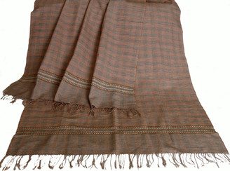 Meditation Shawl - Hand-Loomed Ikat Pattern - Pure Organic Cotton 8