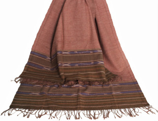 Meditation Shawl - Hand-Loomed Ikat Pattern - Pure Organic Cotton 7
