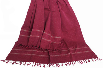 Meditation Shawl - Hand-Loomed Ikat Pattern - Pure Organic Cotton