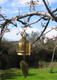 Thai Temple Bell - Wind Chime - Solid Brass in the garden