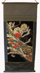 Wall Hanging - Antique Silk Japanese Kimono Artist's Proof One of a Kind #6