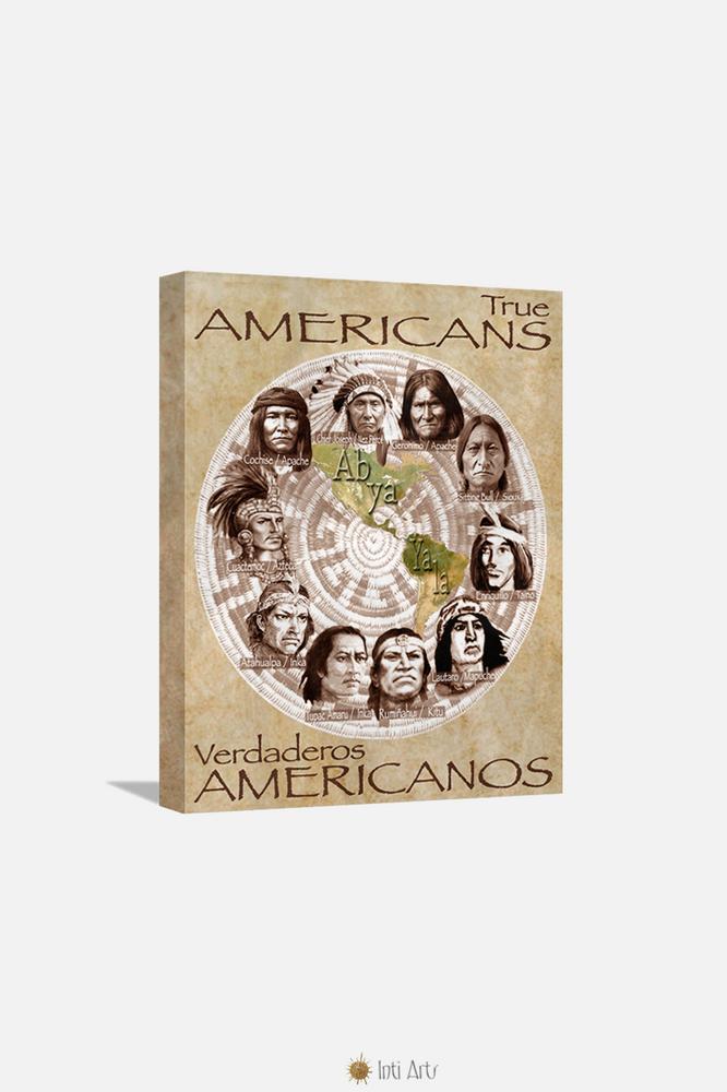 "True Americans, Canvas  20""x24"""