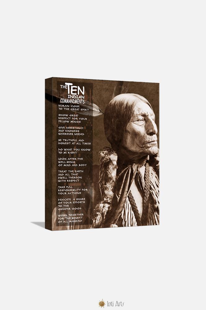 """The Ten Indian Commandments, Canvas 20""""x24"""""""