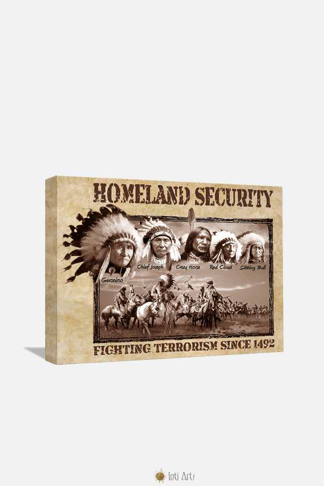 "Homeland Security Feathers,  Canvas 20""x24"""