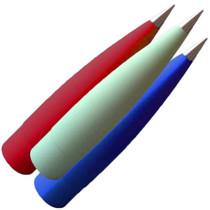 "Fiberglass 5"" Filament Wound Metal Tip (Select Shape)"