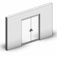 Curtain Panel-Door-Hinge-Double